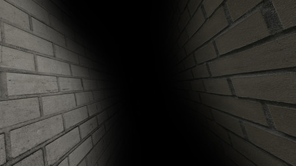 The gloomy corridor. Dark and gloomy, full of mysteries, the corridor 41