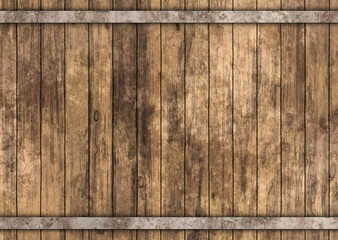 wooden barrel with metal rusty straps  Fototapete