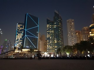 Dubai Marina, Night