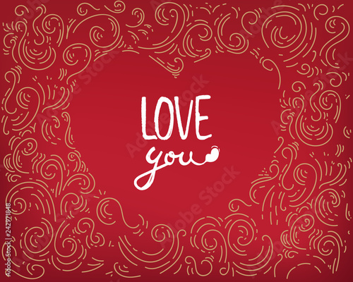Design Valentine S Day Background Love You Wallpaper Flyers Invitation Posters Banners Greeting Card Lettering Template Print Red