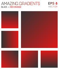Colorful gradients in black, red orange color tones. Adorable gradient background, fair vector illustration.