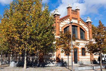 Matadero Madrid pavilion - Cultural center, industrial architecture of former slaughterhouse, Arganzuela district