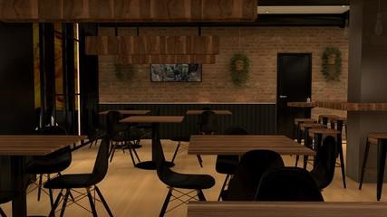 restaurante 3D