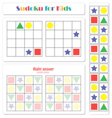 Sudoku for kids with colorful numerals