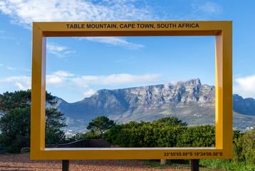 Rahmen mit Tafelberg