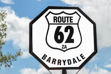 Schild in Barrydale Route 62