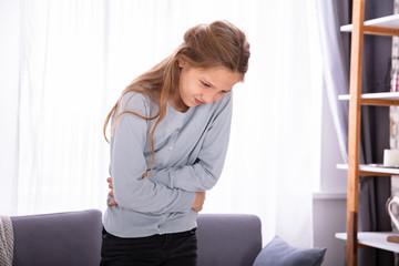 Girl Having Stomach Ache