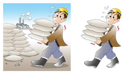 重労働-運ぶ