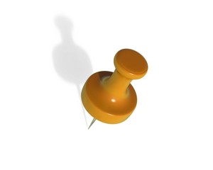 Push Pin All rendered with separate background and objects in different png