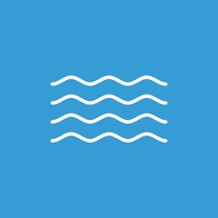 Waves flat vector icon. Water flat vector icon