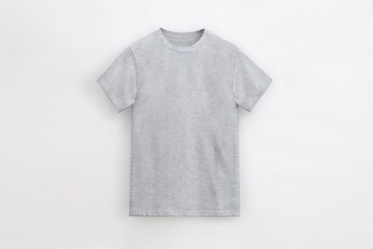 Solid Basic T-Shirt heather grey Man unbranded