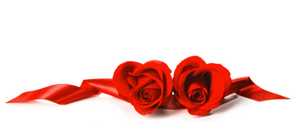 Red Roses and ribbons