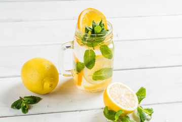 summer drink with fruits