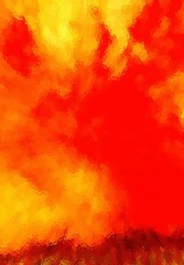 Fire, flames.