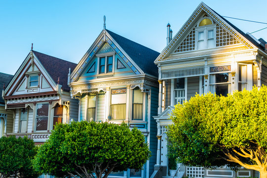 Victorian and Edwardian style houses in San Francisco, California