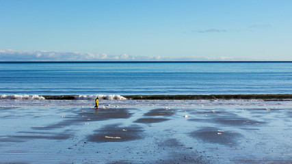 Alone along the shore