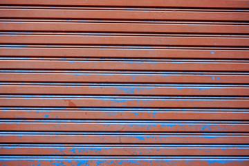 Rust and crack Metal door