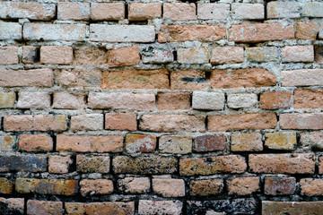 Old & crack brick background wallpaper