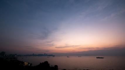 Sunset Sky Background in summer, Pattaya, Thailand