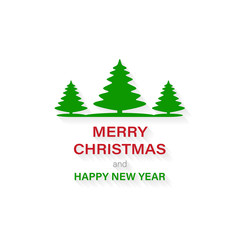 Banner Merry Christmas and happy new year, vector illuistration