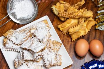 Chiaccheire di Carnevale, tradizionale dolce Italiano