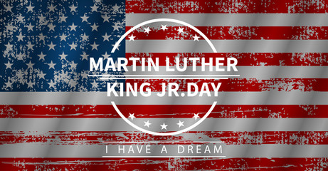 Martin Luther King Day, vector illustration in flat style
