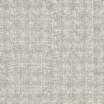 Abstract seamless vector background with hand drawn horizontal and vertical stripes. Endless ornament for wallpaper and wrapping paper, simple monochrome texture. Imitation linen texture.