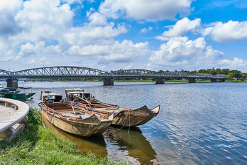 Cruise boat at Perfume river, Hue, Vietnam