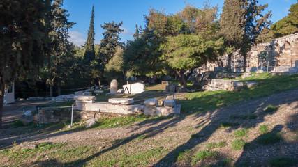Ancient ruins in Acropolis of Athens, Attica, Greece