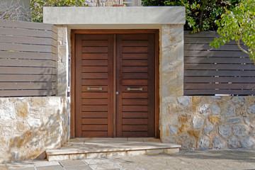 contemporary house entrance, Athens Greece Fototapete