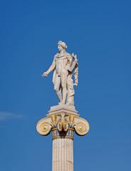 Athens Greece, Apollo statue under blue sky background