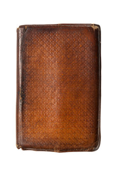 old leather bound book isolated