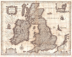 Fotomurales - 1631, Blaeu Map of the British Isles, England, Scotland, Ireland
