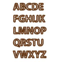 set of vintage alphabet letters