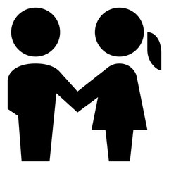 Man And Woman Holding Hands Vector Icon