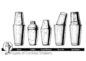 Cocktail shakers types