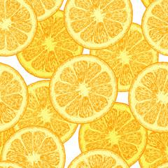 Pattern with orange wedges