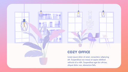 Illustration Interior Cozy Office Business Company