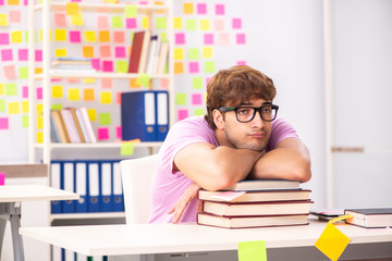 Student preparing for exams with many conflicting priorities
