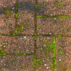 Red grunge brick wall texture background