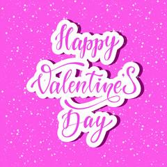 Happy valentine's day poster, card, banner design