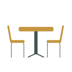 table and chair vector illustration