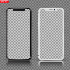 New High Detailed Realistic Smartphone similar to iphone Isolated on white Background