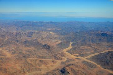 Mountains in the desert of egypt.