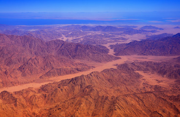 Mountains in the desert of egypt.