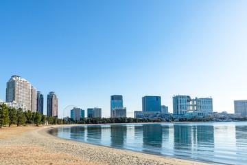 (東京都-都市風景)お台場海浜公園の風景4