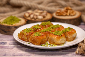 turkish sweet photo  luscious sweet pastry food meal candy sugary foods