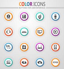 Hi tech icons set