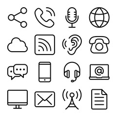 Communications Icon Set