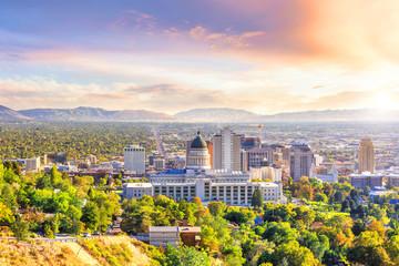 Fototapete - Salt Lake City, Utah
